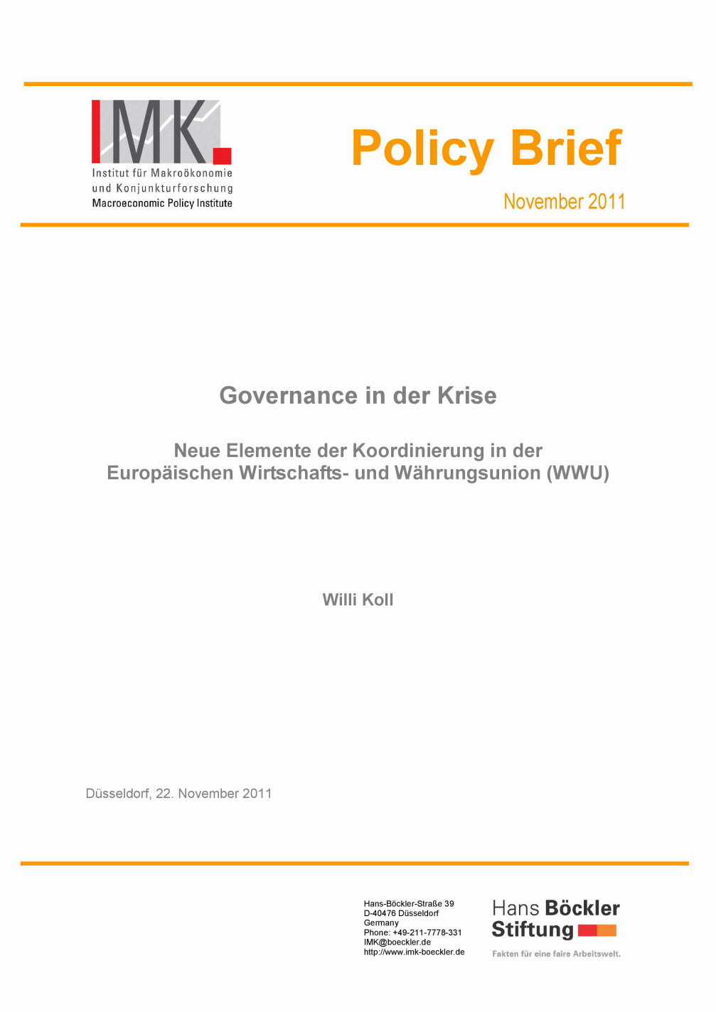 Governance in der Krise