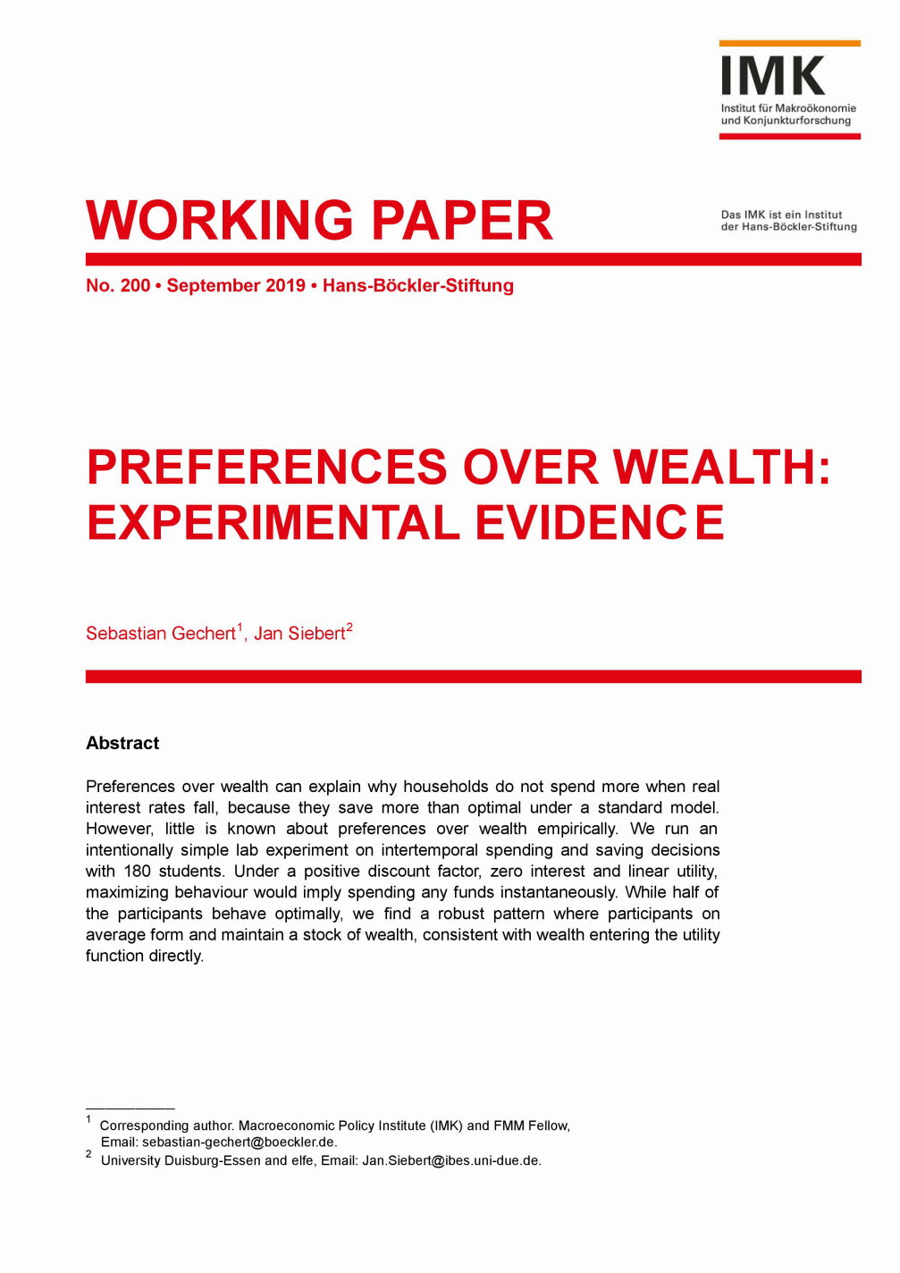 Preferences over wealth
