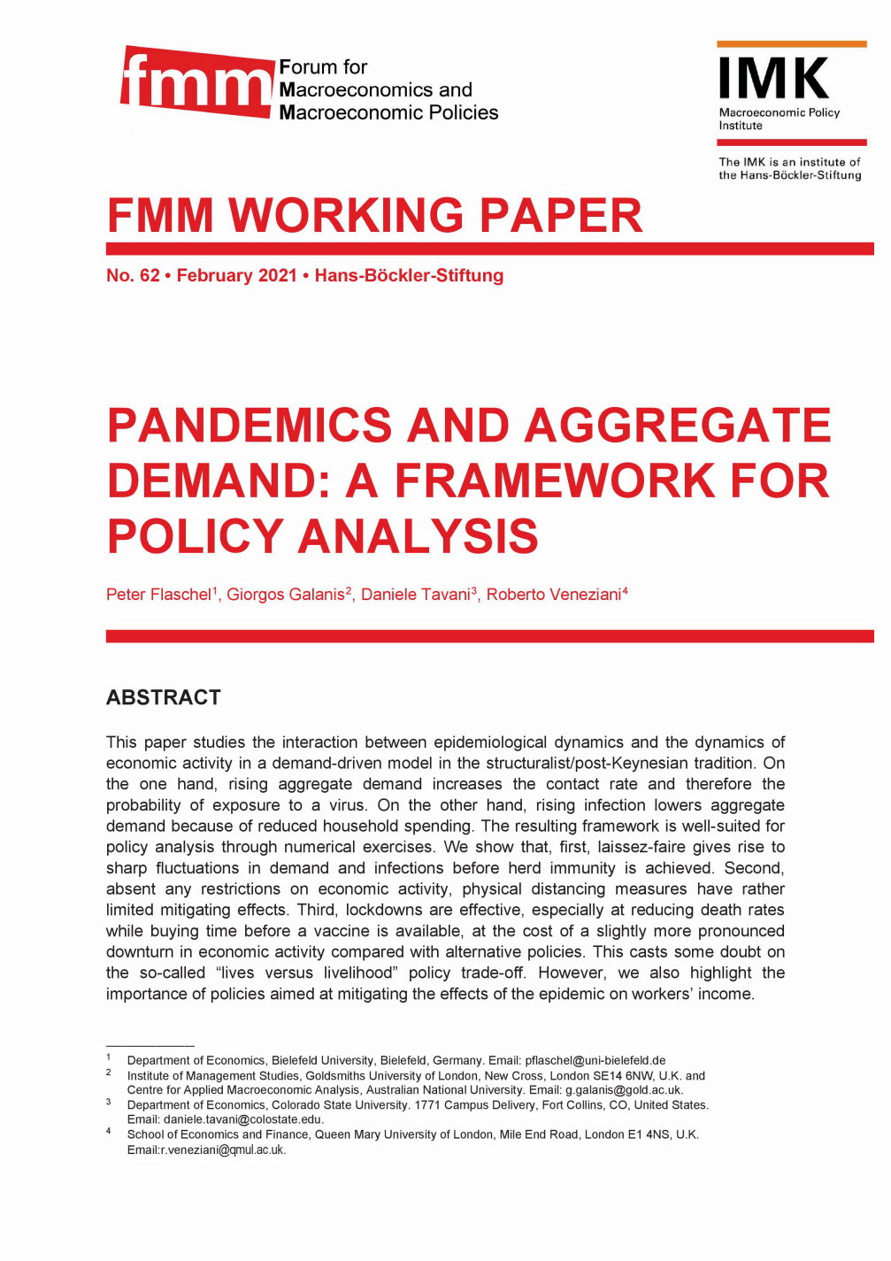 Pandemics and aggregate demand